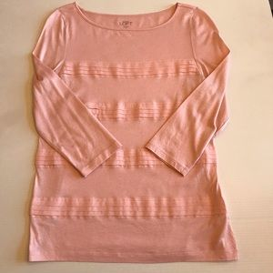 Loft light pink top